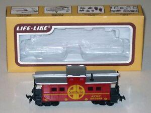 Vintage HO Scale Life-Like SANTA FE Caboose ATSF 999850 in Original Box!