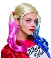Harley Quinn Wig Suicide Squad Margot Robbie DC Joker Deadshot Villain Movie