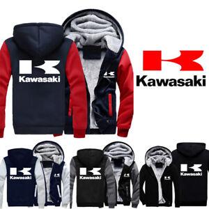 Thicken Kawasaki Moto Hoodie Kapuzenpullover Casual Jacket Cosplay Sweater Coat