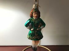 Old World Christmas ornament CELTIC IRISH DANCER dancing girl Ireland glass NEW