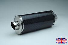 Honda Cbf500 Demonio Slash de fibra de carbono Oval Xls De Escape