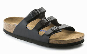 BIRKENSTOCK Florida BS Black Women's Slide Sandals 3 Straps Narrow Fit 053013