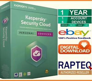 Kaspersky Security Cloud 5 Devices 1 Year PC/Mac/Android UK only