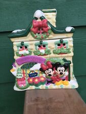 """Mickey & Minnie Flower Shoppe"" Votive Candle Holder - Large, 7 1/2"" X 9"" Inches"