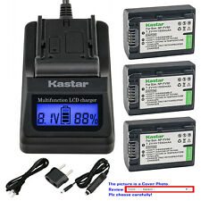 Kastar Battery LCD Fast Charger for Sony NP-FV50 HDR-PJ230 HDR-PJ260 HDR-PJ26