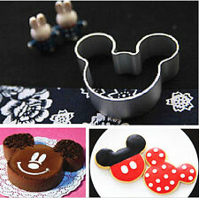 Metal Mickey Mouse Shaped Cookie Pastry Dessert Cake Cutter Baking Mould SHCA