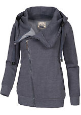 40% off b15080133 señora eight 2 Nine chaqueta grandes capucha 2 bolsillos Asym Zipper azul