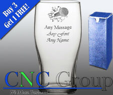 Personalised Engraved Tulip Pint Glass Golf Award Trophy Tournament Gift