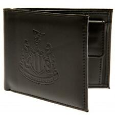 Newcastle United Fc Utd Black Faux Leather Debossed Wallet Mens Gift