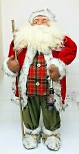 """Large 35"""" Floor Standing Deluxe Santa Figure Traditional Christmas Decoration"""