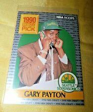 1990 NBA Hoops Lottery Pick Gary Payton RC Seattle Supersonics Rookie