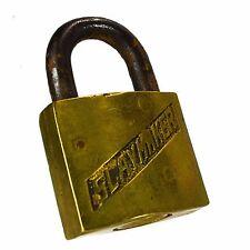 SLAYMAKER Padlock Brass Vintage Old Rectangle Lock (no key)