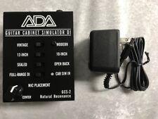 ADA GCS-2 V2 Guitar Cabinet Simulator / DI & AC Adapter 120V Supply 9V DC 300MA