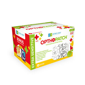Opthopatch Color Your Own Adhesive Eye Patch for Kids 100 Pack + 3 Rewards Chart