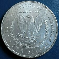 More details for usa 1878 morgan dollar, philadelphia mint, 7 tail feathers 2nd rev.. 900 silver