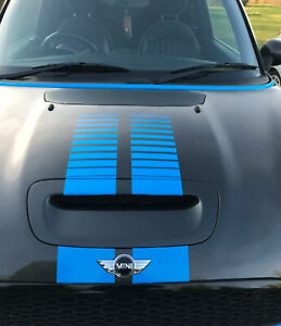 BMW Mini One / mini cooper s / R56 / R57 / R58 racing fading Bonnet stripes JCW