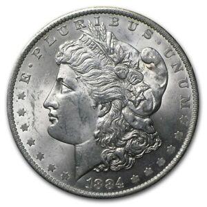 1884 O Morgan Silver Dollar About Uncirculated +