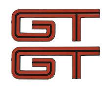 "2005-10 Mustang GT Red w/ Black Fill Fender Trunk Lid Emblems - 4.5"" Long Pair"