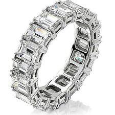 8 Ct Emerald Cut Diamond Anniversary Ring Eternity Band