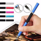 Capacitive 2in1 Touch Screen Stylus Ballpoint Pen For iPhone Samsung iPad Tablet