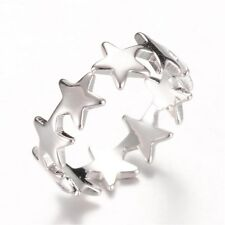 Ring mit fünfzackigen Sterne Stern Schmuck Silber Neu