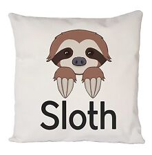 FUNNY SLOTH COOL RETRO CUSHION COVER PILLOW CASE FASHION IDEAL GIFT PRESENT