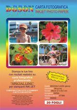 60 Fogli Carta fotografica bifacciale (fronte e retro) inkjet lucida glossy A4