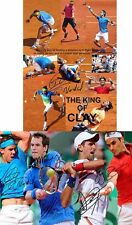 Roger Federer Rafael Nadal Djokovic Murray Tennis Autograph Signed 2 x A4 Poster