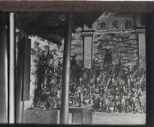 Bouddha Pagode Indochine Siam Photo K9 Plaque de verre Stereo Vintage