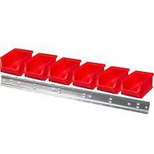 Allit 6 Rojo stapelsichtboxen tamaño 2+ riel de pared