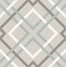 blau und grau geometrisch Lattice Tapete Wanddekoration Saltire Design fd22649
