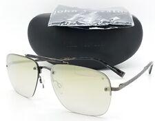 NEW John Varvatos Aviator Sunglasses V511 60 Gunmetal Green Gradient AUTHENTIC