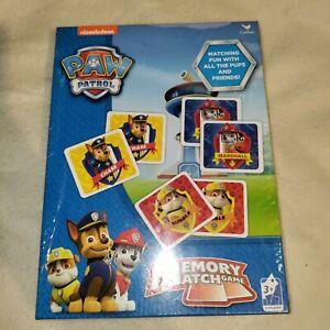 Nickelodeon Paw Patrol  Memory Match Game NEW Sealed