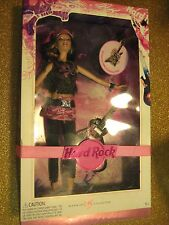 HRC,Hard Rock Cafe,BARBIE COLLECTOR DOLL,NEW IN BOX,plus Guitar and Pin,Brunette