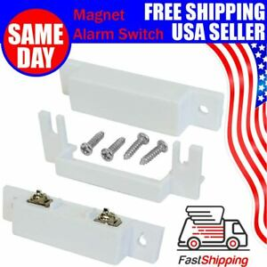 Magnetic Contact Reed Switch Surface Mount Door Wired Sensor Alarm System USA