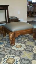 Anique Newly reupholsted.Ride-On Elephant Foot rest. Lounge Seat Foot Rest Stool