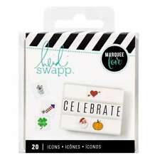 American Crafts Heidi Swapp Lightbox Icon Inserts Holiday 20 Piece