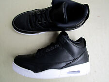 "Nike Air Jordan 3/iii retro 44.5 2016 ""Cyber Monday"" Black/Black-white"