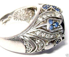 SIGNED Art Deco Cubic Zirconia Statement SIGAL 925 Silver CZ Ring Sz 6.25 - QVC