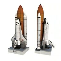 1:150 Scale Space Shuttle Atlantis Spacecraft Rocket 3D Paper Model DIY Toy UK