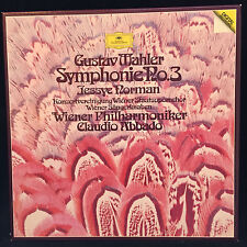 MAHLER Symphony #3 - ABBADO - Vienna - Jessye Norman - DG (2LP 1982 NM)