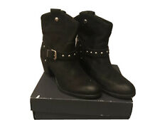 Pier One Black Studded Leather Cowboy Boots - Size 5