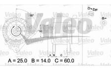 VALEO Alternador para FORD VW GOLF PASSAT SEAT IBIZA CORDOBA AUDI A4 437392
