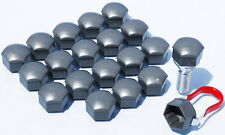 20 x Alloy wheel bolts nuts caps covers Grey 17mm Hex for Vauxhall