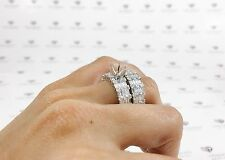 2.39CT 18K White Gold Semi Mount Diamond Engagement Ring Wedding Band Bridal Set
