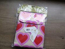 """10"""" iPad/tablet sleeve Pink hearts designer with shoulder strap #6285"""