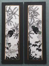 hawaiian caribbean tropical african MURAL TILE ART CERAMIC HANDPAINTED PLAQUES