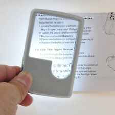 2pcs Portable 3x 6x Magnifier Magnifying with LED light Glass Credit Card Size
