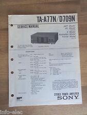 Schema SONY - Service Manual Stereo Power Amplifier TA-A77N TA-D709N