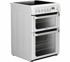 Hotpoint Ultima HUE61PS 60cm Double Oven Electric Cooker - White
